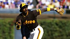 Garry Templeton in the old San Diego Padres uniform.