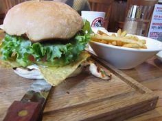 Grilled Chicken Macho Nacho Burger at Monkey Nuts in Crouch End, London