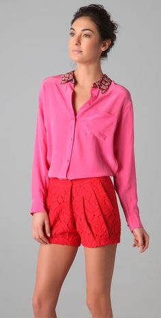 Obsessed with this Equipment blouse. Love the color! Wear now with dark jeans and in the spring with bright shorts.