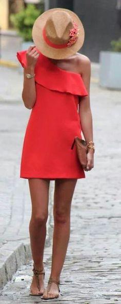 .naranja Beauty Makeup Tips, Formal, Casual, One Shoulder, Shoulder Dress, Dresses, Fashion, Ladies Dresses, Ladies Fashion