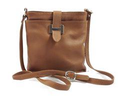 Helena - Womens Caramel Genuine Italian Leather Shoulder Bag #Helena #Women #Leather #ShoulderBag gvgbags.com