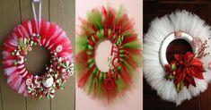 Coronas hechas con tul para Navidad - Dale Detalles
