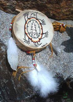 Turtle Drum - Legend has it, after the great flood, the world was repopulated on the back of a turtle.