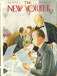 New Yorker cover, July 14, 1945 -- by Constantin Alajalov