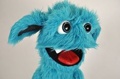 Professional monster puppet by Luna& Puppets Blinking ventriloquist creature - Full Body Puppets, Professional Puppets, Kids House, Creatures, Hand Painted, Dolls, Etsy, Pattern, Painting