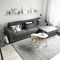 38 Stunning Scandinavian Living Room Design Ideas Nordic Style - Popy Home Tiny Living Rooms, Living Room Modern, Living Room Interior, Living Room Decor, Cozy Living, Nordic Living Room, Small Living Room Designs, Living Area, Scandinavian Interior Living Room