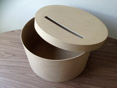 DIY card box rustic card box  wedding card box Round