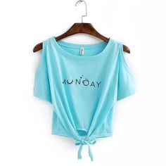 Fashion Summer 2016 womens Elegant Letter Shoulder Off print Crop Top T-shirt Casual short Sleeve O neck shirt Loose Tops