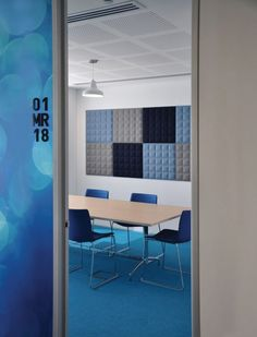 What's Hot: Acoustic Office Furniture - Modern Office Furniture Corporate Interiors, Office Interiors, Office Furniture, Furniture Design, Acoustic Wall Panels, Statement Wall, Commercial Interiors, Wall Tiles, Walls