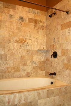 Bathroom Tub Tile Ideas Pictures Beautiful Bo Bath Tub and Shower Bathtub Tile Surround, Shower Surround, Shower Tub, Bath Tub, Stone Shower, Shower Walls, Shower Installation, Kitchen Cabinet Design, Bath Remodel