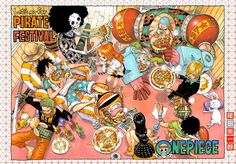 """The Straw Hats enjoying pizza together"""