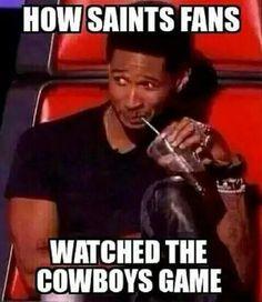 Saints fans watching Cowboys game