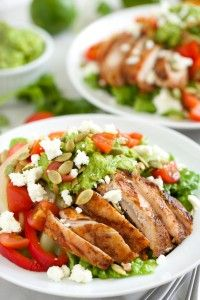 Grilled Chicken Fajita Salad with Guacamole Dressing | Get Inspired Everyday!