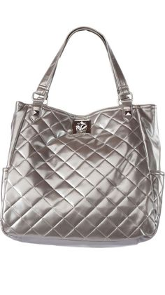 $44 Silver Tote by Kenneth Cole REACTION - So cute! I just ordered it - can't wait to receive!