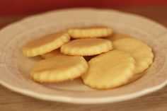 Galletitas de Manteca y Azúcar Almond, Food And Drink, Sweets, Cookies, Desserts, Queso, Happiness, Blog, Chip Cookies