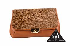 You are Posh Brown Poney leather Clutch