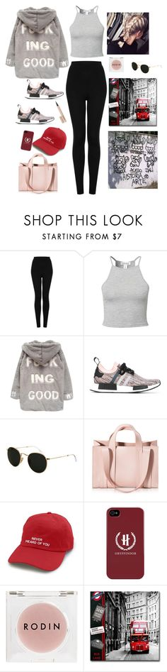 """""""No mood"""" by youngsmile on Polyvore featuring Topshop, Estradeur, Chicnova Fashion, adidas, Ray-Ban, Corto Moltedo, Rodin Olio Lusso and Hourglass Cosmetics"""
