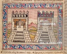 Stock Graphic: Mexico Aztec temples of Tenochtitlan from The History ...