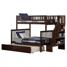 Lovely Berg Twin Over Full Bunk Bed with Stairs