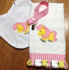Pony Horse Applique Machine Embroidery Designs   Designs by JuJu