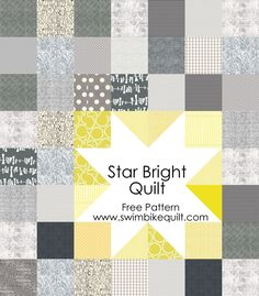 Last week, I posted a few pictures of the finished Star Bright Quilt–here are instructions for a baby and throw size quilt, with a few quilting ideas thrown in.There is also a downloadable f…