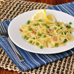 Farfalle with Peas, Pancetta, and Lemon ~ The Way to His Heart