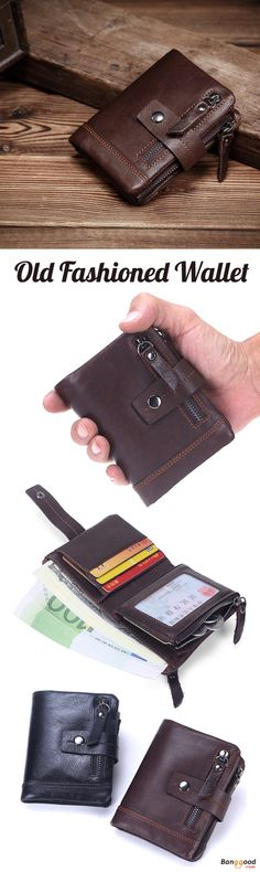 US$24.99 + Free shipping. Men Wallet, Genuine Leather Wallet, Old Fashioned Wallet, Card Holder, Coin Bag. Color: Black, Coffee. 13 Card Slots, Documents Holder, Photo Holder, Bill Holder, Zipper Pocket, Coin Bag, Front Zipper Pocket. Multifunctional yet Small & Convenient.