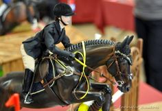 show jumping - good rider position for a doll - model horse