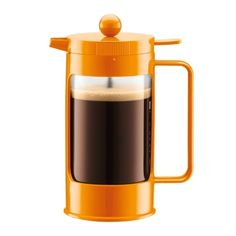 If you can't live without a caffeine fix in the morning, consider swapping your daily paper cup'o'joe with a homemade brew. Bodum's Bean French Press serves up 32 ounces of hot java to get you going, a spill-proof lid to keep your counters clean, and five color options to match your kitchen decor.    Read more: http://www.dwell.com/products/bean-french-press.html##ixzz1wUNfjnM8