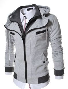 TheLees Slim Fit Double Zipper Hood Cotton Jacket X-Large(US Large). Please check accurate measurements below on description part. Variation Attributes: Size - X Large(US Large). Sharp Dressed Man, Well Dressed Men, Gentlemen Wear, Trench Coat Men, Cool Jackets, Cotton Jacket, Slim Man, Lightweight Jacket, Mens Clothing Styles