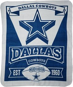 Dallas Cowboys Est 1960 Fleece Throw 50x60 39e44a55e