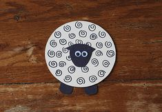 What a cute project for spring or Easter! Recycled CD Lamb by @amandaformaro Crafts by Amanda