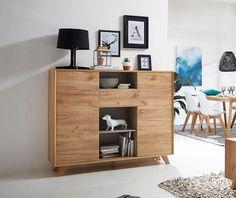 Contemporary 2 drawer and 2 door cabinet in choice of oak effect, white pine effect or matt stone #germania #modernfurniture #interiordesign #homedecor #interiors #furniture #homedesign #designerfurniture #love