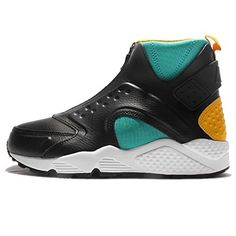 the latest e1e40 c9d55 Nike Womens W Air Huarache Run Mid CLEAR JADEBLACKUNIVERSITY GOLDWHITE 9 US  -- Click image to review more details.(This is an Amazon affiliate link)