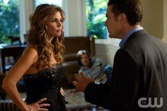 """Shut Up, Dr. Phil""  Pictured (L-R): Charisma Carpenter as Maggie and James Marsters as Don in SUPERNATURAL on The CW. Photo: Jack Rowand/The CW©2011 The CW Network, LLC. All Rights Reserved."