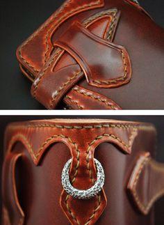 Leather Wallet Pattern, Handmade Leather Wallet, Sewing Leather, Leather Gifts, Leather Craft, Wallet Chain, Long Wallet, Leather Accessories, Leather Jewelry