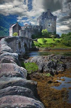 Bridge To The Castle ~ Highlands of Scotland by Vicki Lea Eggen