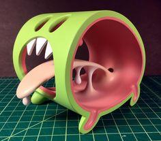 Little Monster Original Sculpt Green Limited Edition (Signed / Numbered) Clay Monsters, Little Monsters, Vinyl Toys, Vinyl Art, Arte Robot, Modelos 3d, Designer Toys, Vinyl Figures, Cool Toys