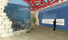 Bahrain Marine Life Exhibition on Behance Zone 3: Coral Reefs