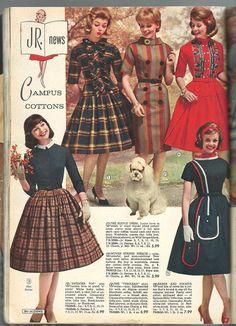 Aldens Fall & Winter 1962, Vintage Fall, Look Vintage, Vintage Girls, Vintage Glamour, Vintage Dresses, Vintage Outfits, 1960s Fashion, Vintage Fashion, 20th Century Fashion