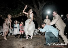 This bride is so cool! From Kayla and Dustin's #reception at the Oak Wind Bed and Breakfast in Alvin, TX. #weddingmoments #weddingphotography #texasweddingphotographers #janddproductions #cuteweddingpictures #funweddingmoments #candidweddingmoments #candidweddingpictures #texasweddings #receptionfun #funweddings #weddingdancing #coolbrides