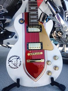 custom Epiphone Les Paul with sparkle finish from world renowned bike builder Cory Ness.