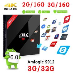 62.18$  Watch here - http://ali46t.worldwells.pw/go.php?t=32791251508 - Original H96 PRO Plus + Android 6.0 TV Box Amlogic S912 2G 16G 3G 32G Smart TV Box WIFI Gigabit LAN Bluetooth4.1 4K Media Player