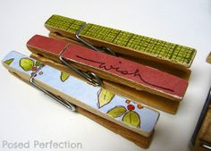 Posed Perfection: Decorated Clothespins
