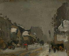 Snow, Paris, 1899, Robert Henri. American Ashcan School Painter (1865 - 1929)
