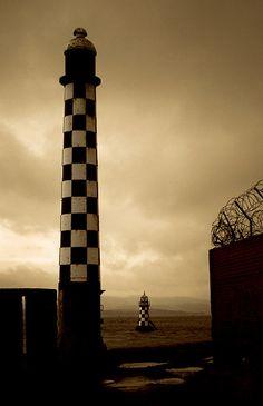 Port Glasgow - two lighthouses - Scotland