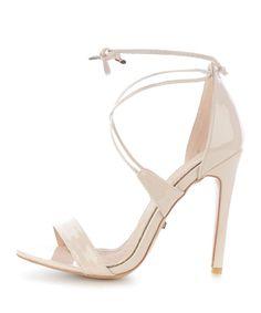 Beżowe sandały na szpilce GAIOLA
