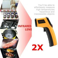 GM320 Handheld Thermometer Non Contact IR Laser Infrared Digital Temperature F7