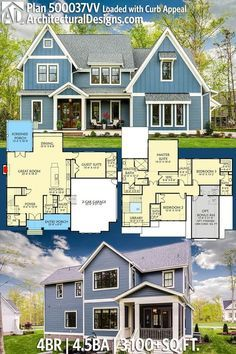 Plan 500037vv Loaded With Curb Appeal In 2020 Architecture House Dream House Plans Exclusive House Plan