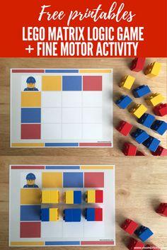 LEGO matrix logic game | LEGO games and activities | Juego de lógica con ladrillos LEGO  | www.mombricks.com